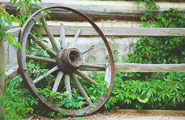 Broken Cart Wheel in a Farm