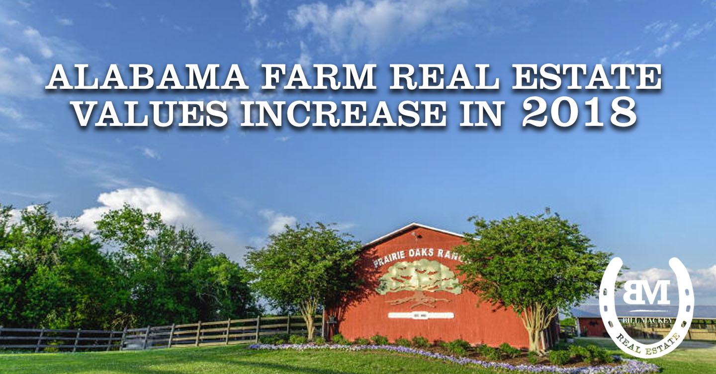 Alabama Farm Real Estate Values Increase in 2018 - Bill Mackey